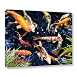 magnificent artistic wall art The Art Wall 24 by 32-Inch Koi Wrapped Canvas by George Zucconi