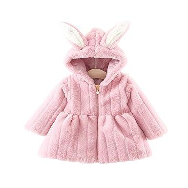 52d4892de Amazon.com  Bratyeessi Newborn Infant Baby Girl Faux Fur Winter ...
