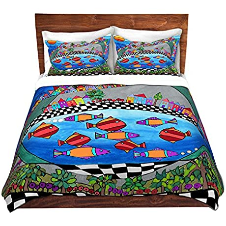 Duvet Cover Brushed Twill Twin Queen King SETs DiaNoche Designs Dora Ficher Las Colinas