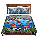 DiaNoche Designs Dora Fischer-Rolling Hills Brushed Twill Home Decor Bedding Cover, 8 King Duvet Sham Set