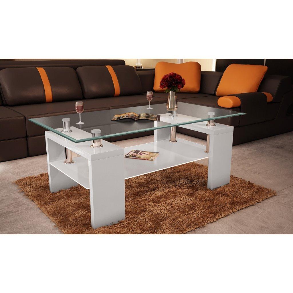 Table basse de salon carrée en verre et mdf noir laqué: amazon.fr ...