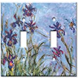 Art Plates - Monet: Irises Switch Plate - Double Toggle