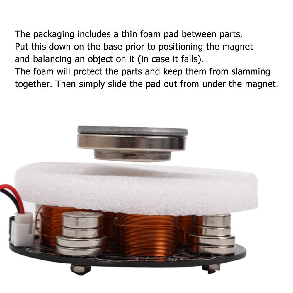IS Icstation Electronic Maglev Levitron Magnetic Levitation Kit Display Suspension Stand Floating Holder Up to 220g for DIY Decoration Collection Show by IS (Image #6)