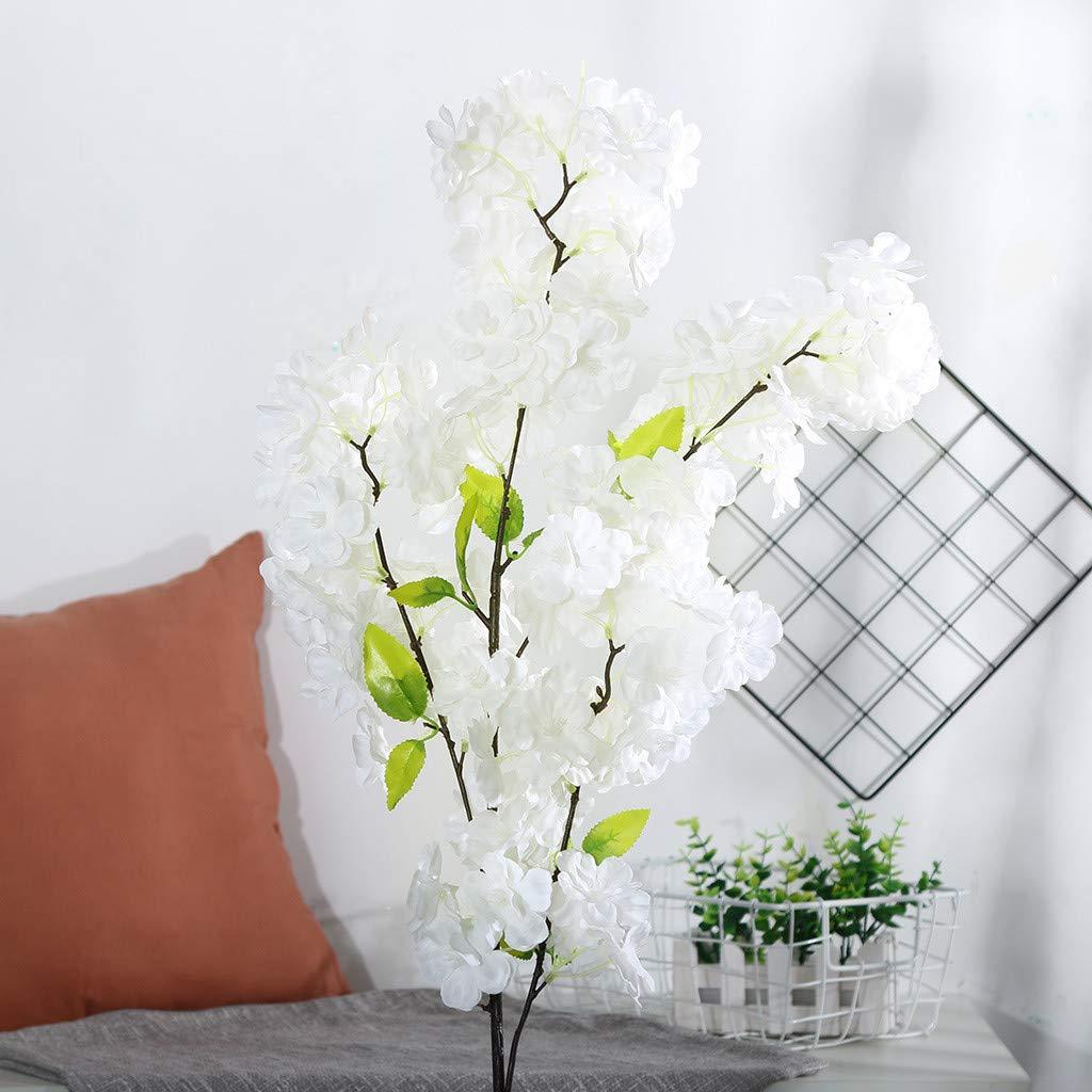 CANAFA-ホーム&キッチン 造花 人工シルク 造花 桜 花 ウェディングブーケ パーティー装飾 B07Q7MPVCQ A