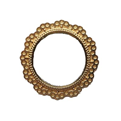 Melody Jane Dolls Houses House Miniature Accessory Round Mirror in Gold Frame 1:12 Scale: Toys & Games