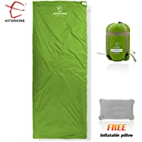 Hitorhike Envelope Outdoor Sleeping Bag Camping Sleeping Bags with Pillow additionally for 3 Seasons Summer Autumn Winter