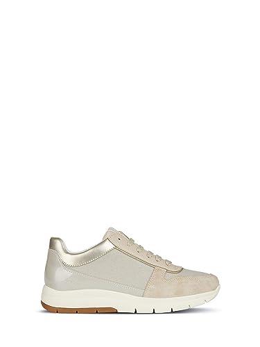 897b5bfaba1278 Geox Chaussures pour Femmes Baskets D CALLYN D en Tissu Beige D849GD ...