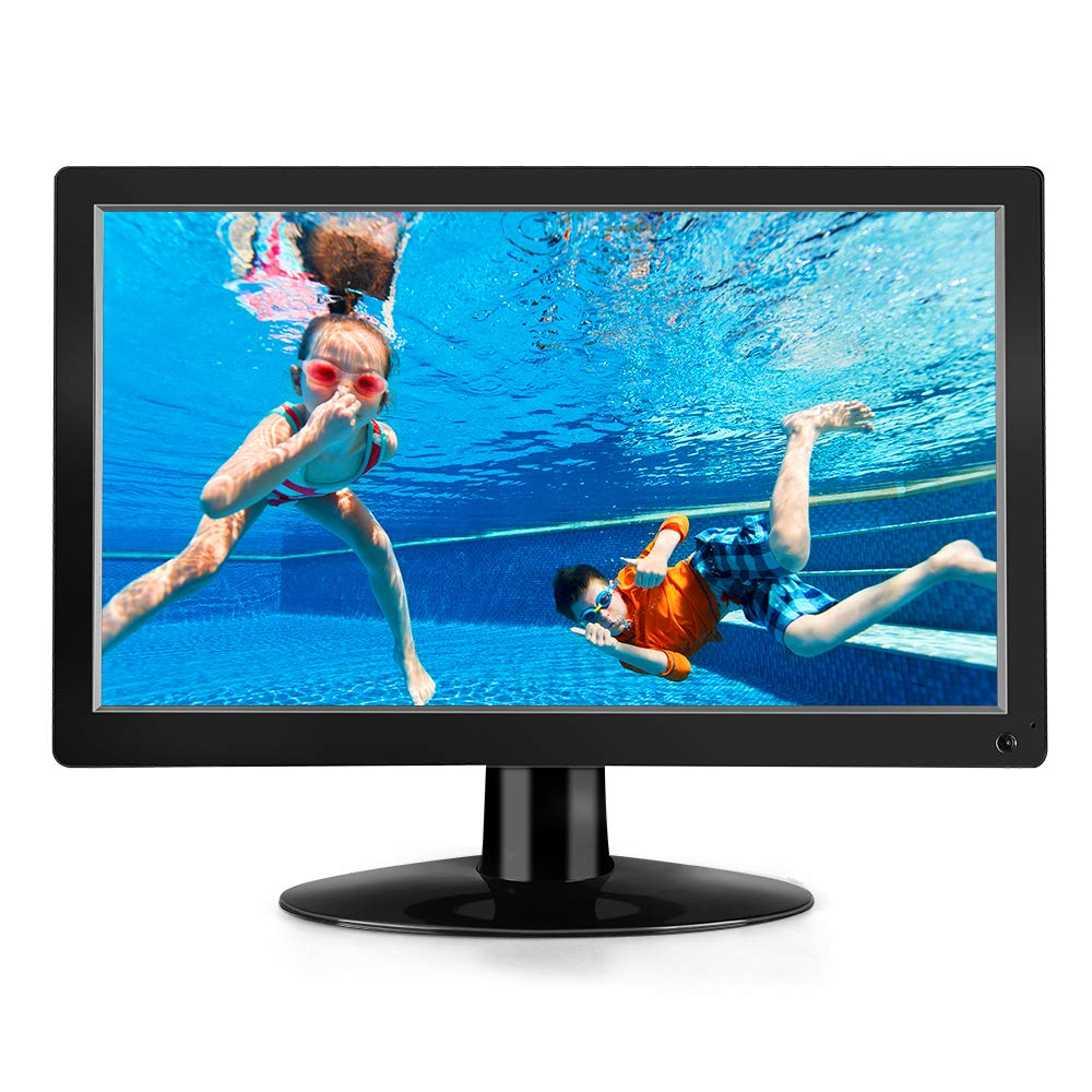Eyoyo 15.6'' inch HDMI Monitor 1920x1080 IPS LCD Big Screen with HDMI/AV/VGA/BNC/USB Input PC Monitor Security Monitor VESA 75 Wall Mount & Remote Control by Eyoyo