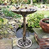 Kingfisher Bronze Effect Plastic Bird Bath