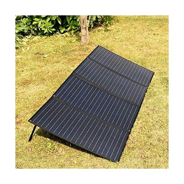XINPUGUANG 200W (50Wx4pcs) 20V faltbares Solarpanel-Ladegerät MonoCrystalline Silicon Optional für Camper Zelt Wohnmobil…