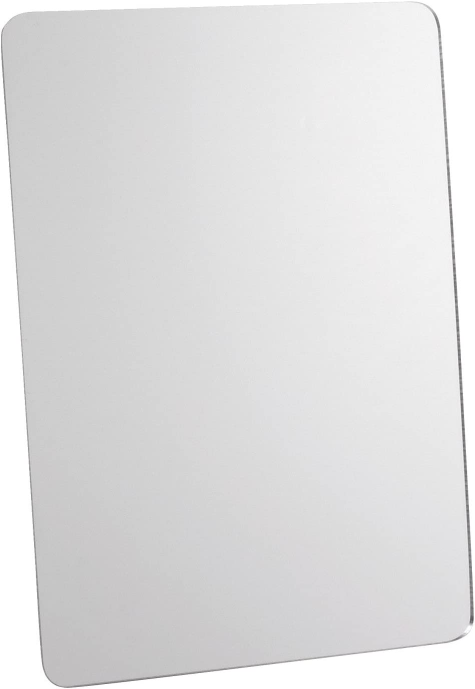 School Smart Rounded Corner Personal Acrylic Mirror with Magnetic Back, 5 L x 7 W in, Assorted Transparent Color - 247465