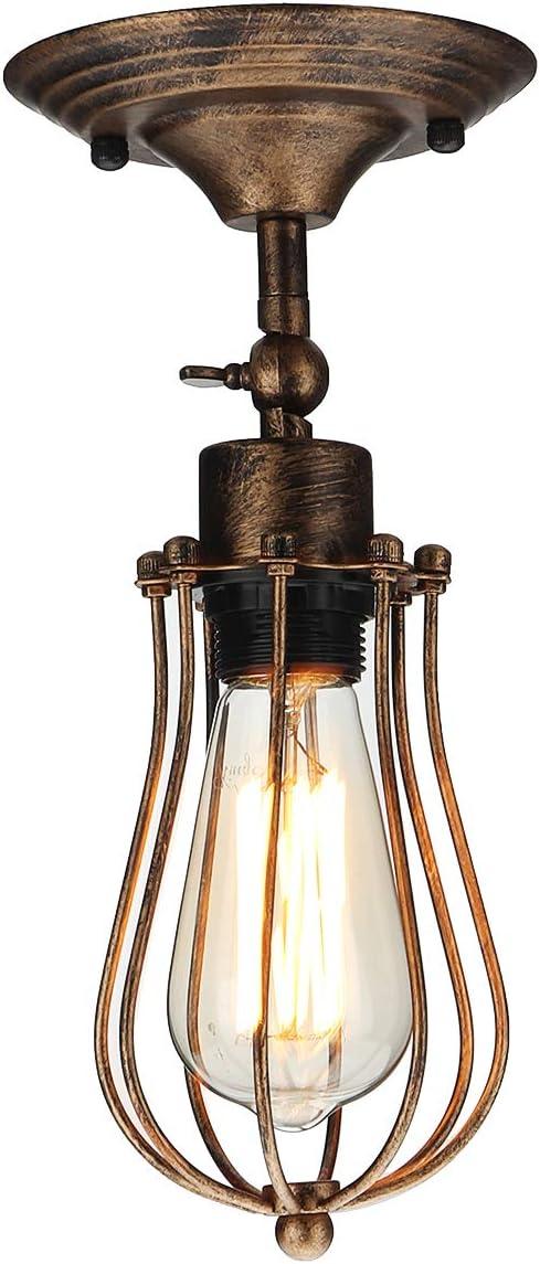 KAYIMAN Apliques de Pared Vintage Ajustable Metal Lampara Rustica Retro Lámpara Industrial de Pared E27 para la Salon, Cocina, Desván, Restaurante, Cafe, Club Decoración (Con bombilla de 6W)