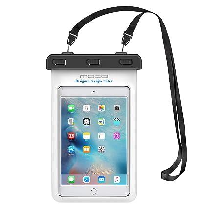 timeless design 92bee 74664 MoKo Universal Waterproof Case, Dry Bag Pouch for iPad Mini 2019/4/3/2,  Samsung Tab 5/4/3, Galaxy Note 8, Tab S2/Tab E/Tab A 8.0, LG G Pad III 8.0,  ...