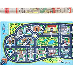 Venture Out Into The City From The Comfort Of Your Home Olikai Design created a replica of New York city on a play mat for toddlers, and children. It is a one-of-a-kind design and displays all the major sights and buildings of NYC, complete w...