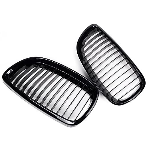 Amazon Com 2pcs Glossy Black Front Upper Kidney Grill Grille For