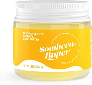 product image for Southern Butter All-Natural Intimate Body Butter, Fragrance Free, Jar, 1.82 Ounce Jar