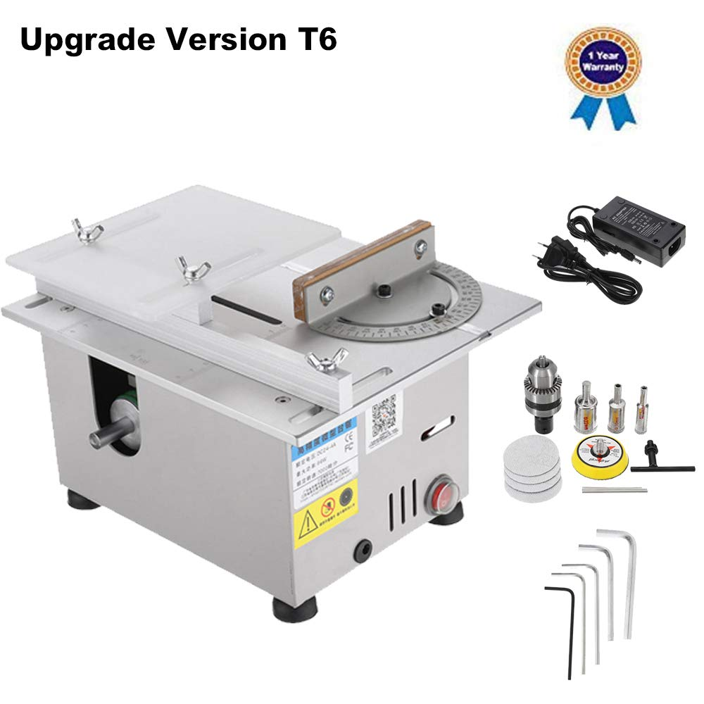 Upgrade Version Table Saw Mini Precision Table Saws DIY Wood Working Lathe Polisher Drilling Machine for DIY Handmade Wooden Model Crafts, Printed Circuit Board Cutting by BACHIN
