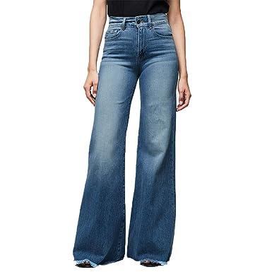 Lazzboy Pantalones Vaqueros de Moda para Mujer Cintura Alta ...