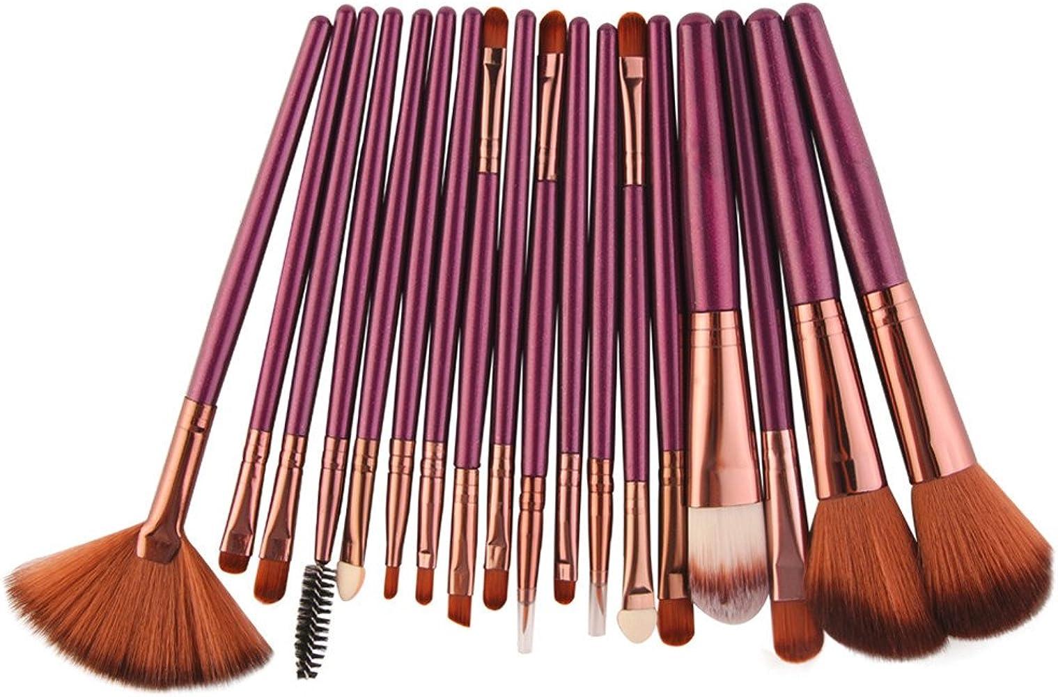 Cepillo de Maquillaje, YpingLonk Brochas de Maquillaje 22 Piezas Set de Brochas de Maquillaje de Maquillaje para Las Facial y Cejas y Labios Cerdas Sintéticas Suaves: Amazon.es: Ropa y accesorios