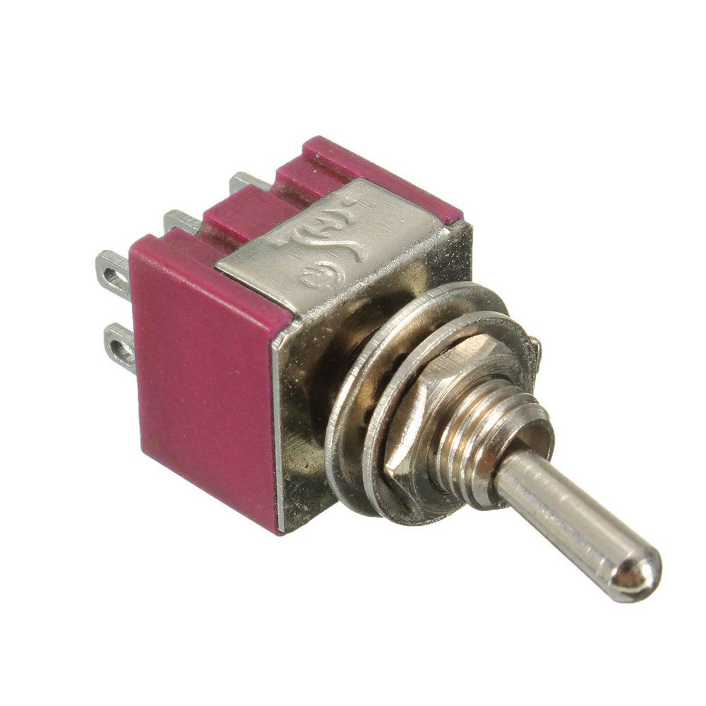 Etopars 10 X On//Off//On Mini Miniature Toggle Switch Dashboard DPDT 6Pin
