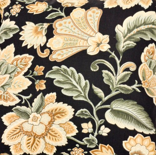 Amazon.com: Ellis Curtain Valerie Jacobean Floral Print Lined ...