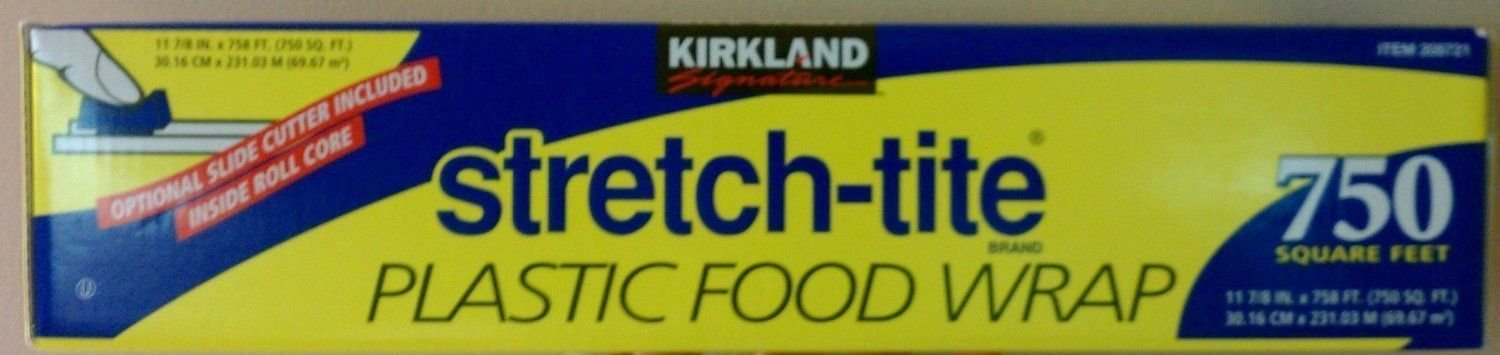 Kirkland Signature Stretch Tite Plastic Food Wrap 750 Sq. Ft.; New by Unknown