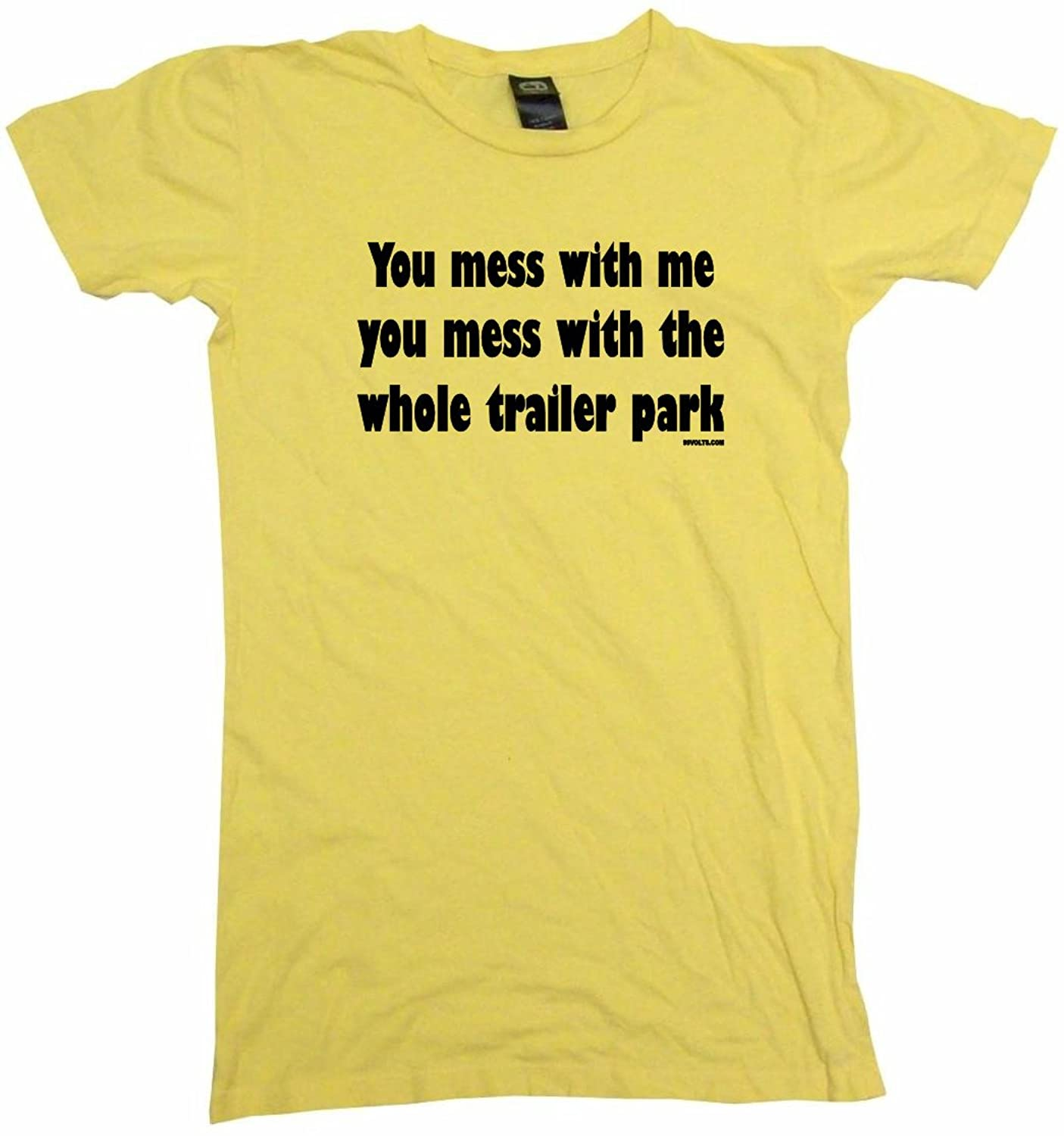 Amazon.com: You Mess With Me You Mess With The Whole Trailer Park Womens Babydoll Tee Shirt: Clothing