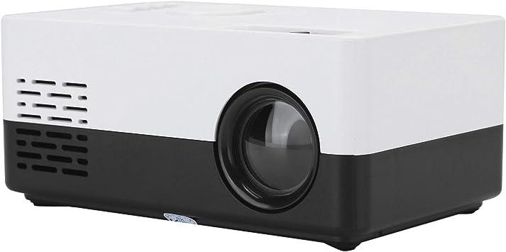 Opinión sobre Mini Proyector de Cine en Casa,LED Mini Proyector Portátil de Video,Home Theater Video Multifuncional,Multimedia Reproductor Proyector de Enfoque Manual,Alta Fidelidad Estéreo Proyector (Negro)