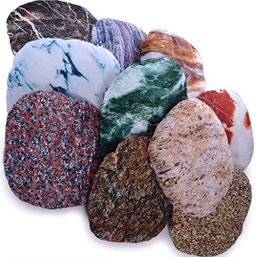Vercart Floor Pillows : Vercart (TM) - 3D Artificial Living Stone Style Irregular Decorative Throw Pillow Home Decor ...