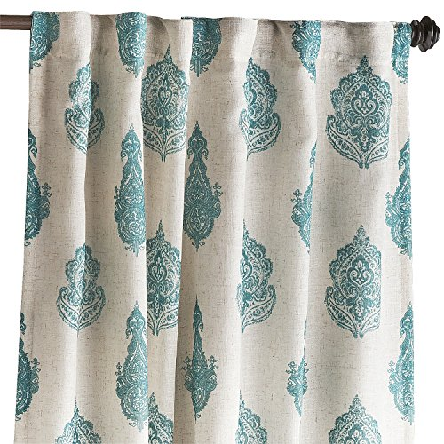 Pier 1 Imports Lined Curtain Window Treatment Rambagh Paisley Teal 84