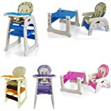 New 3 in 1 Baby High Chair Desk Convertible Play Table Conversion Seat - 4 Colour