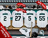 Florida Marlins Team Locker Room Clubhouse Personlized Officially Licensed MLB Photo Print