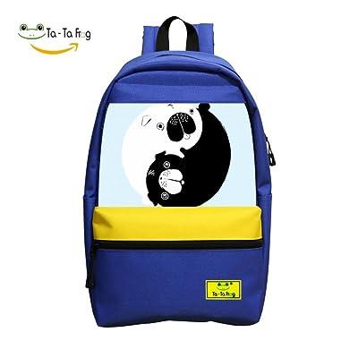 Yin Yang Pugs Student Backpack School Bag Style Girls Super Bookbag Break