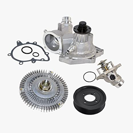 Amazon Com Thermostat Water Pump Fan Clutch Pulley Kit For Bmw 540i