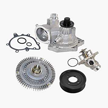 BMW Bomba De Agua Polea Embrague Ventilador termostato Kit Premium V8 (4pcs): Amazon.es: Coche y moto