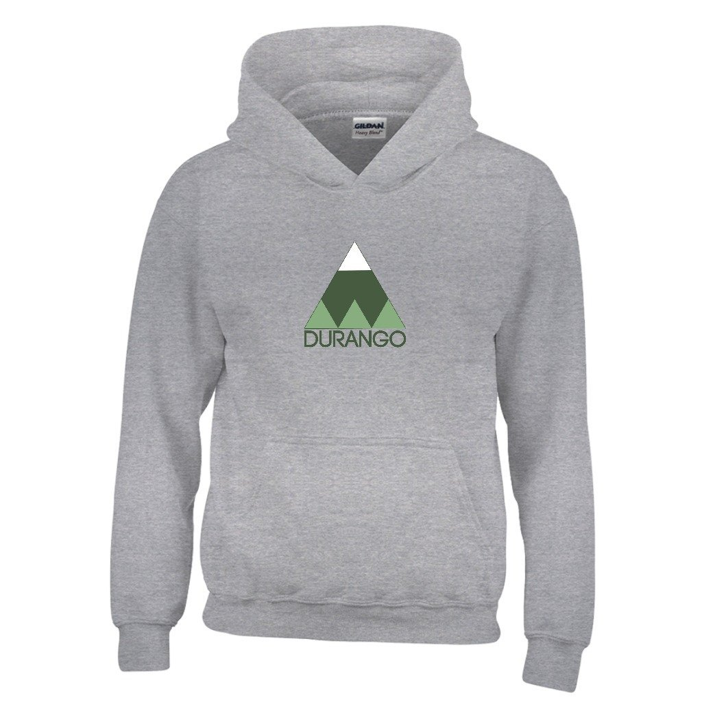 Durango Minimal Mountain Youth Hoodie Colorado Kids Sweatshirt