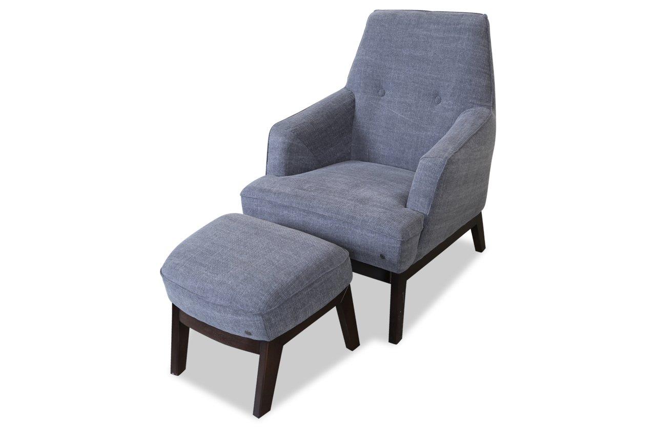 Sofa Couch Tom Tailor Sessel Cozy mit Hocker - Grau: Amazon.de ...