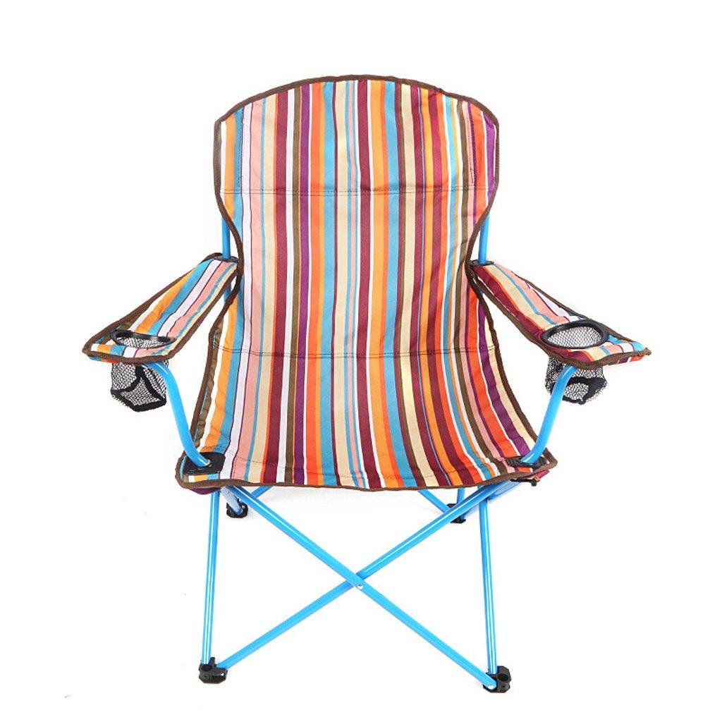 Homelx Tragbare Outdoor Klappstuhl Angeln Stuhl Strand Stuhl Falten Skizzieren Stuhl Direktor Stuhl Armlehne Plus Baumwolle Erhöhen Strand Stuhl
