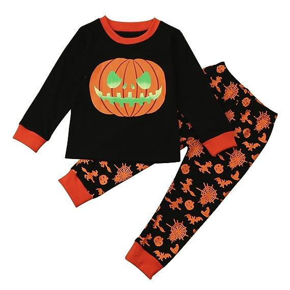 DOGZI Ropa Bebé Halloween,2-7 años de Edad niños Víspera de Todos los