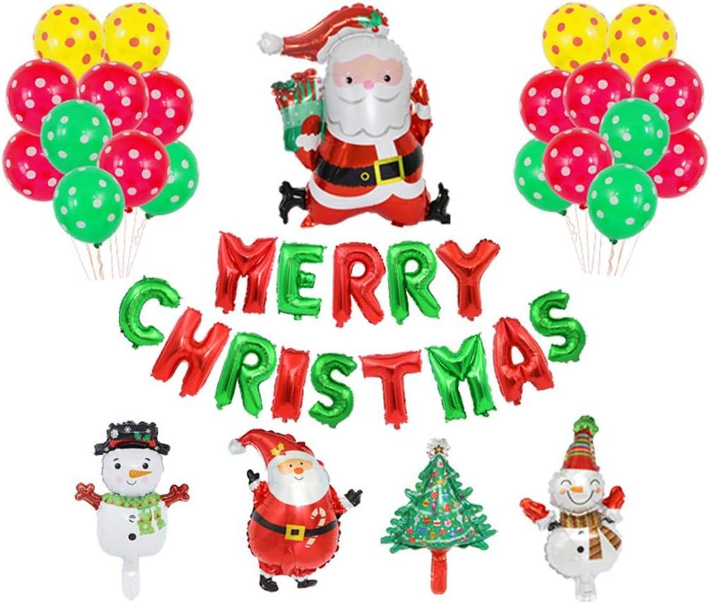 Decoraciones de Navidad – Kit de globos de aluminio, regalo para fiesta de Año Nuevo