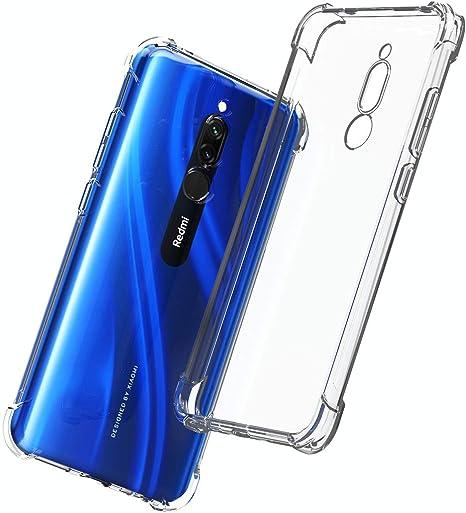 QHOHQ Funda para Xiaomi Redmi 8, Cases Silicona Thin Slim TPU Anti-caída Cuatro Esquinas para Xiaomi Redmi 8-Transparente: Amazon.es: Electrónica