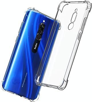 QHOHQ Funda para Xiaomi Redmi 8, Cases Silicona Thin Slim TPU Anti ...