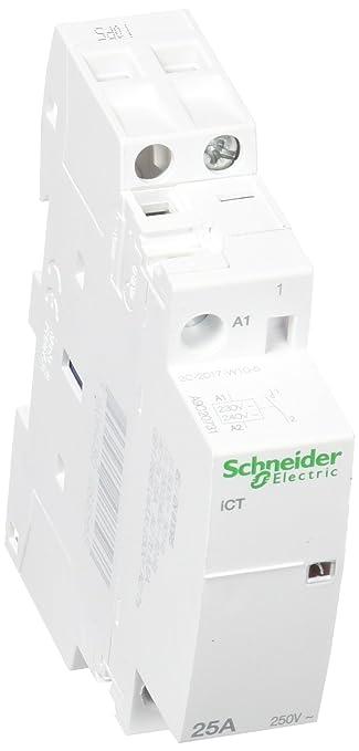 Schneider Electric A9C20731 Contactor Modular Ict 25A 1No 230-.240V 50Hz: Amazon.es: Industria, empresas y ciencia