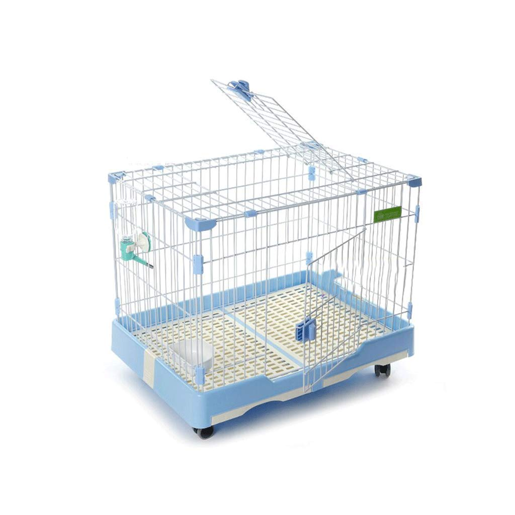 C 74x49x56cm C 74x49x56cm Dog Cage Iron Assemable with Toilet Small Medium Large Dog Teddy Law Fighting Keji Indoor Pet Cage Puppy (color   C, Size   74x49x56cm)