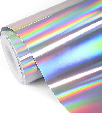 TECKWRAP Vinilo cromo plateado brillante de Rainbow, 1ft x 5ft: Amazon.es: Juguetes y juegos