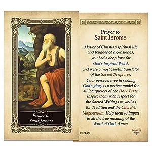 St. Jerome Laminated Prayer Card