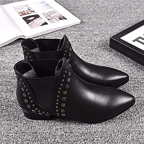 Stivali Black Sexy Gli Moda Breve Kokqsx Boots signore Cuoio Chelsea Stivali 4qzzwv