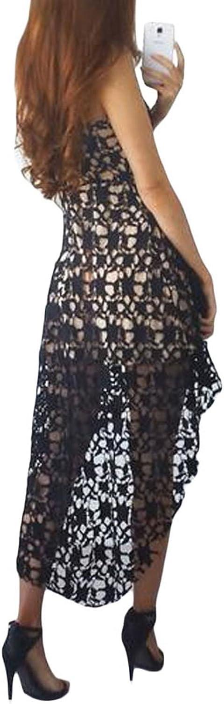 Amazon.com: AlvaQ Vestido de fiesta sin mangas con cuello en ...