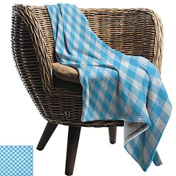 Amazing Amazon Com Andytours Bed Blanketcheckered Blue And White Gamerscity Chair Design For Home Gamerscityorg
