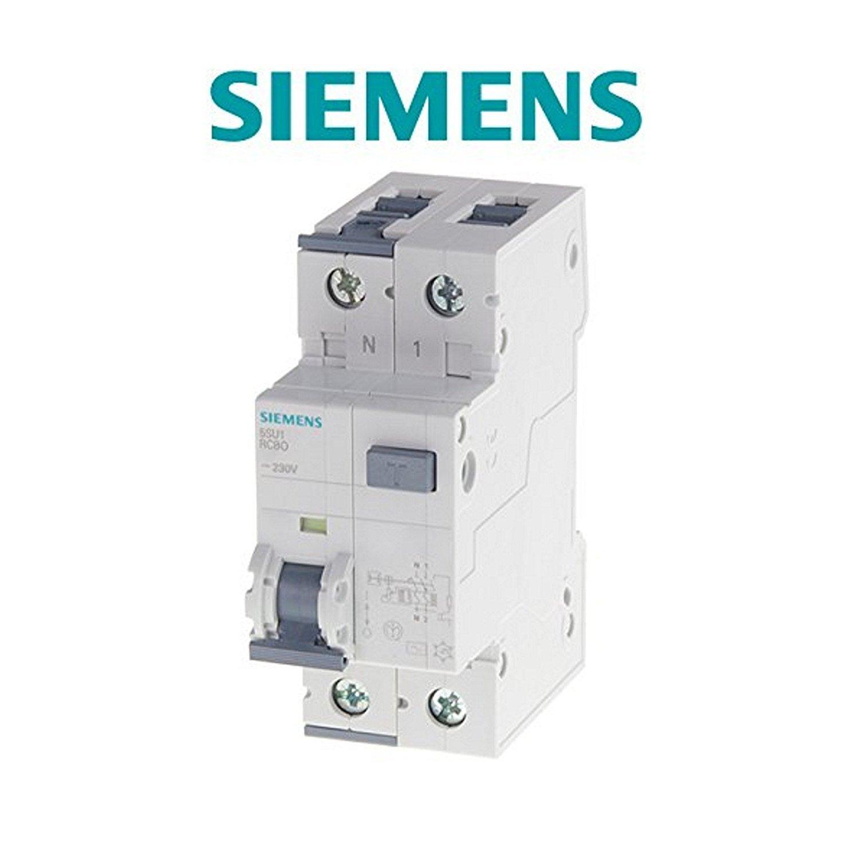 N Automatico 230 V 50 Hz 6.000 A Siemens Interruttore Magnetotermico Differenziale 5SU13561KK 1P 10 Ampere